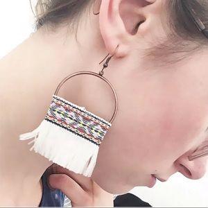 Jewelry - Bohemian White Tassel Earrings